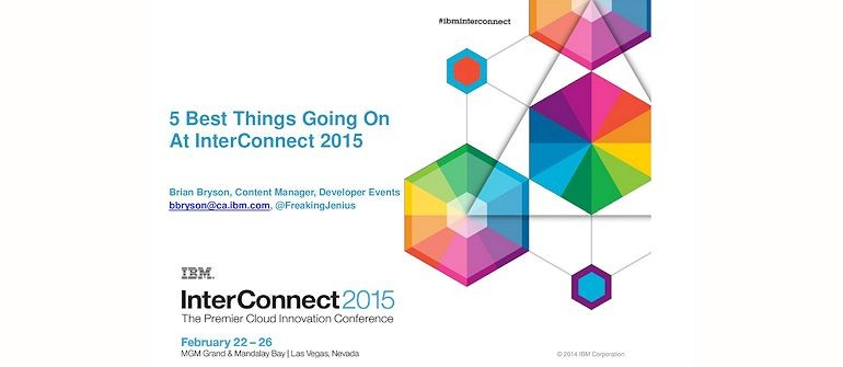 5 best things going on at InterConnect 2015