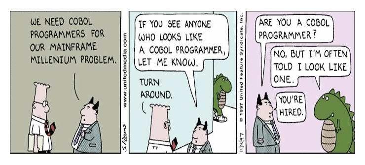 COBOL: Completely Obsolete But Omnipresent Language