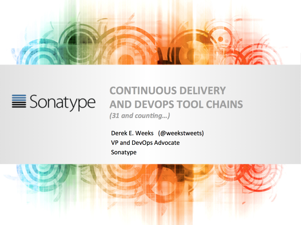 CD and DevOps tool chain