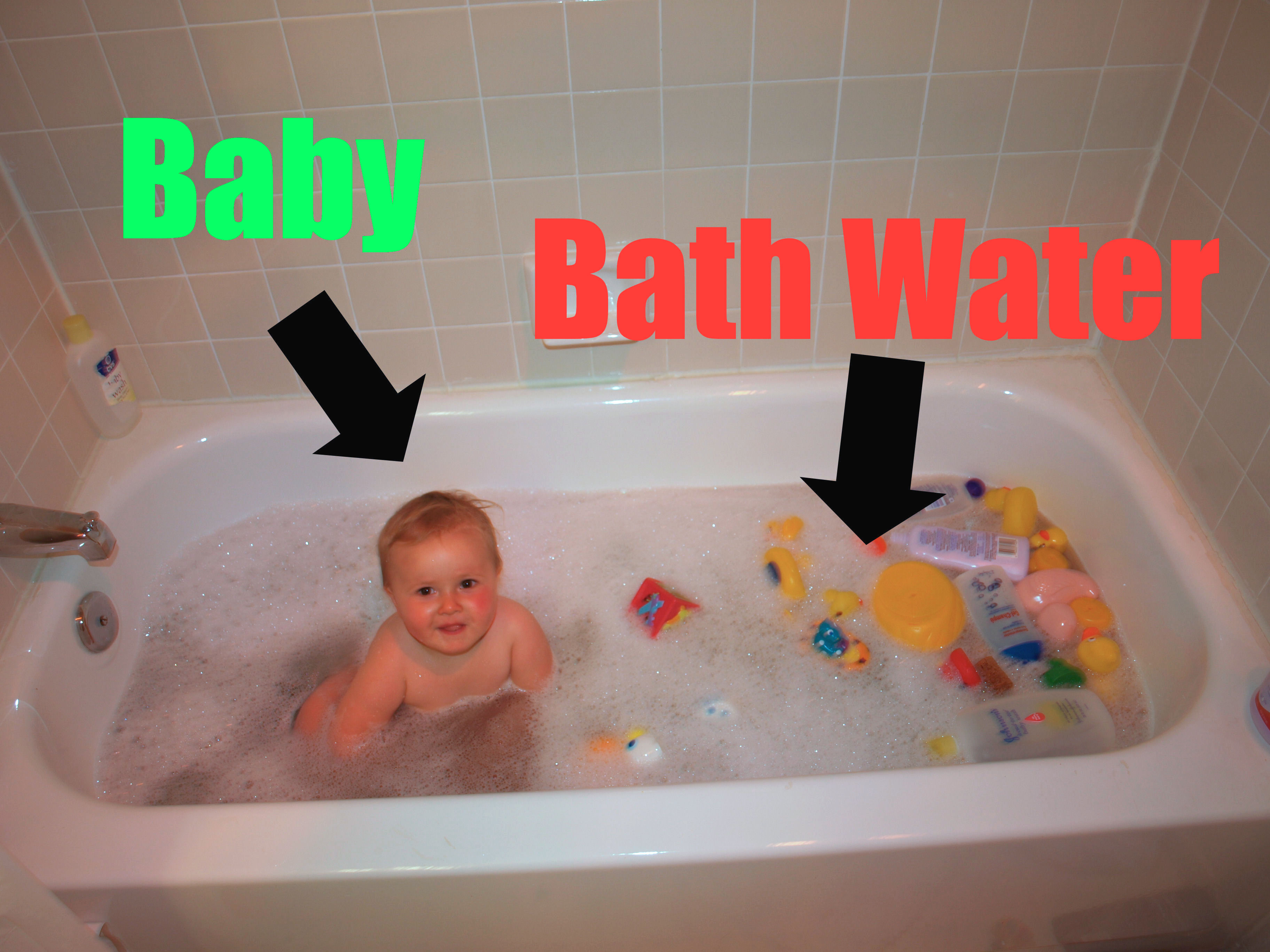 Don't throw the baby out with the bath water.