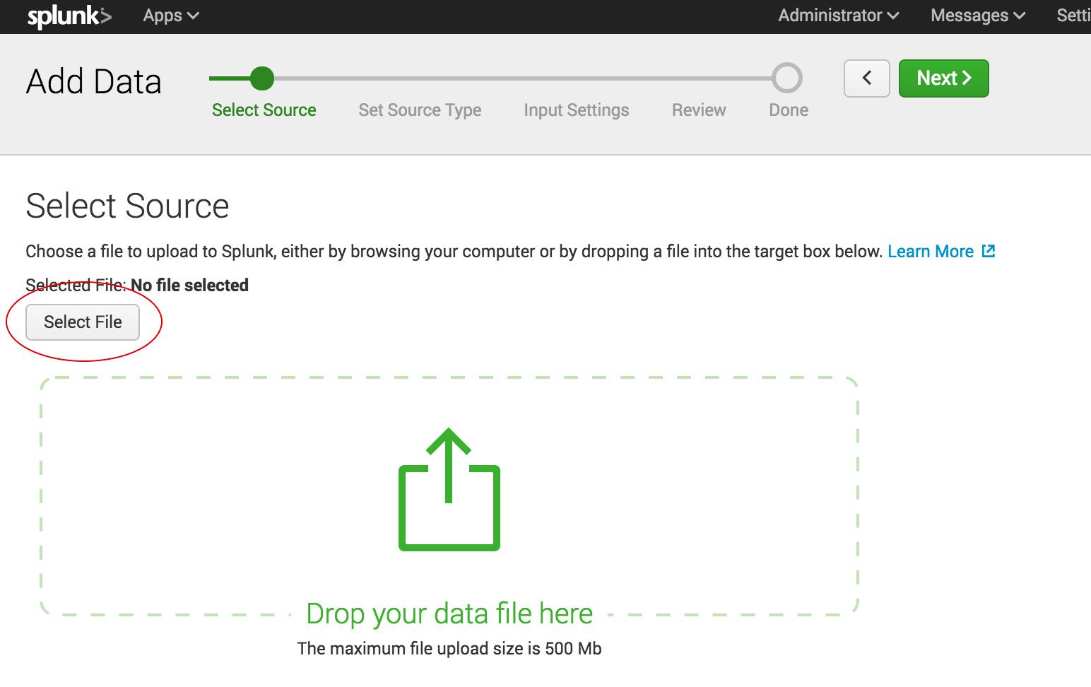 import data into splunk