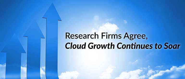 Research Firms Agree, Cloud Growth Continues to Soar