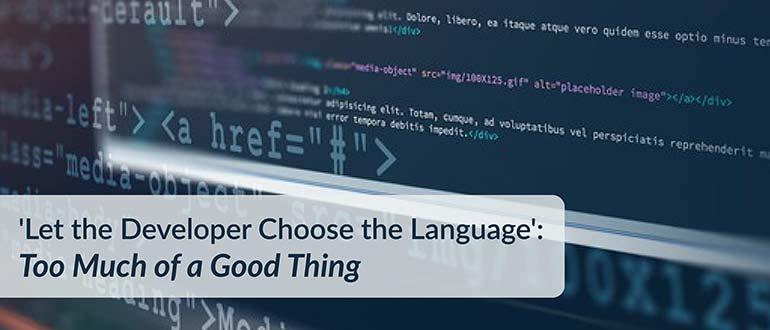 Developer Language Good Thing