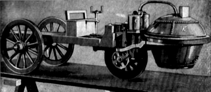 Nicolas Cugnot's steam dray from 1769