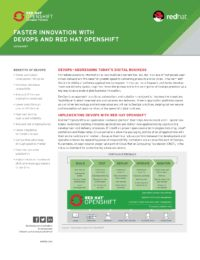 Faster Innovation with DevOps and Red Hat OpenShift