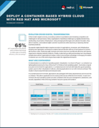 Deploy a Container-Based Hybrid Cloud with RedHat and Microsoft