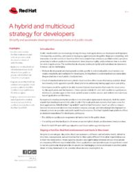 A Hybrid and Multicloud Strategy for Developers