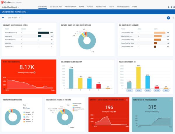 Qualys endpoint screen shot