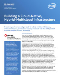 Building a Cloud-Native, Hybrid-Multicloud Infrastructure