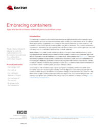 Embracing Containers: Agile and Flexible Software-Defined Hybrid Cloud Infrastructure