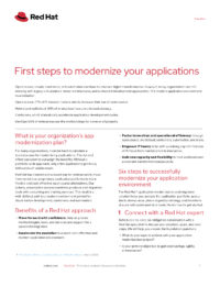 First Steps to Modernize Your Applications