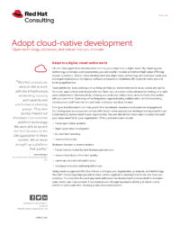 Adopt Cloud-Native Development