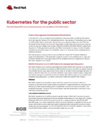 Kubernetes for the Public Sector