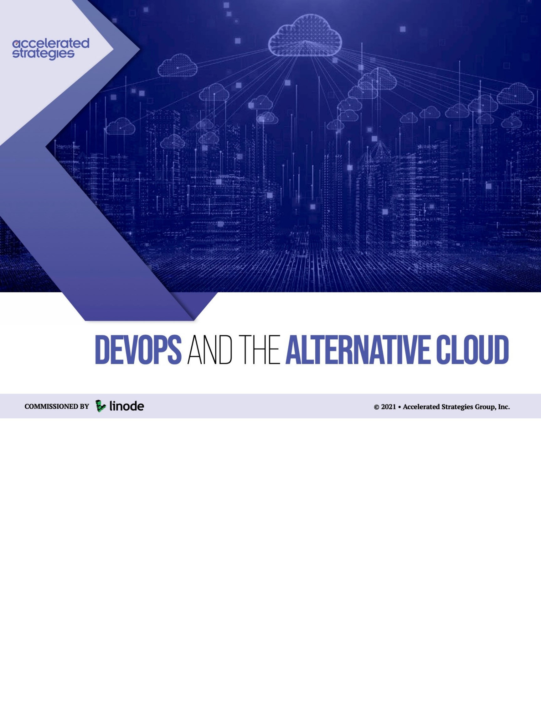 DevOps and the Alternative Cloud Report - Accelerated Strategies Group