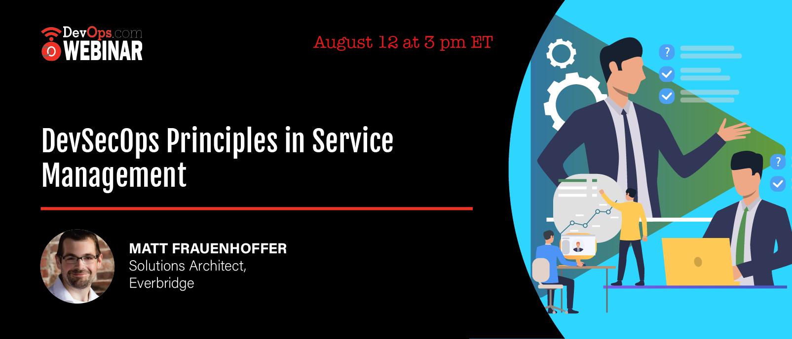 DevSecOps Principles in Service Management