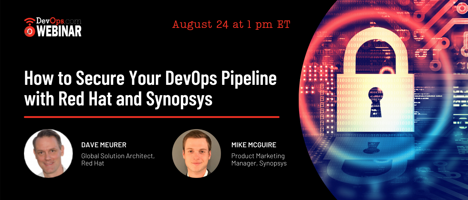 How to Secure Your DevOps Pipeline With Red Hat and Synopsys