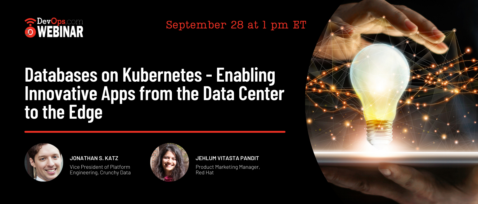 Databases on Kubernetes – Enabling Innovative Apps from the Data Center to the Edge