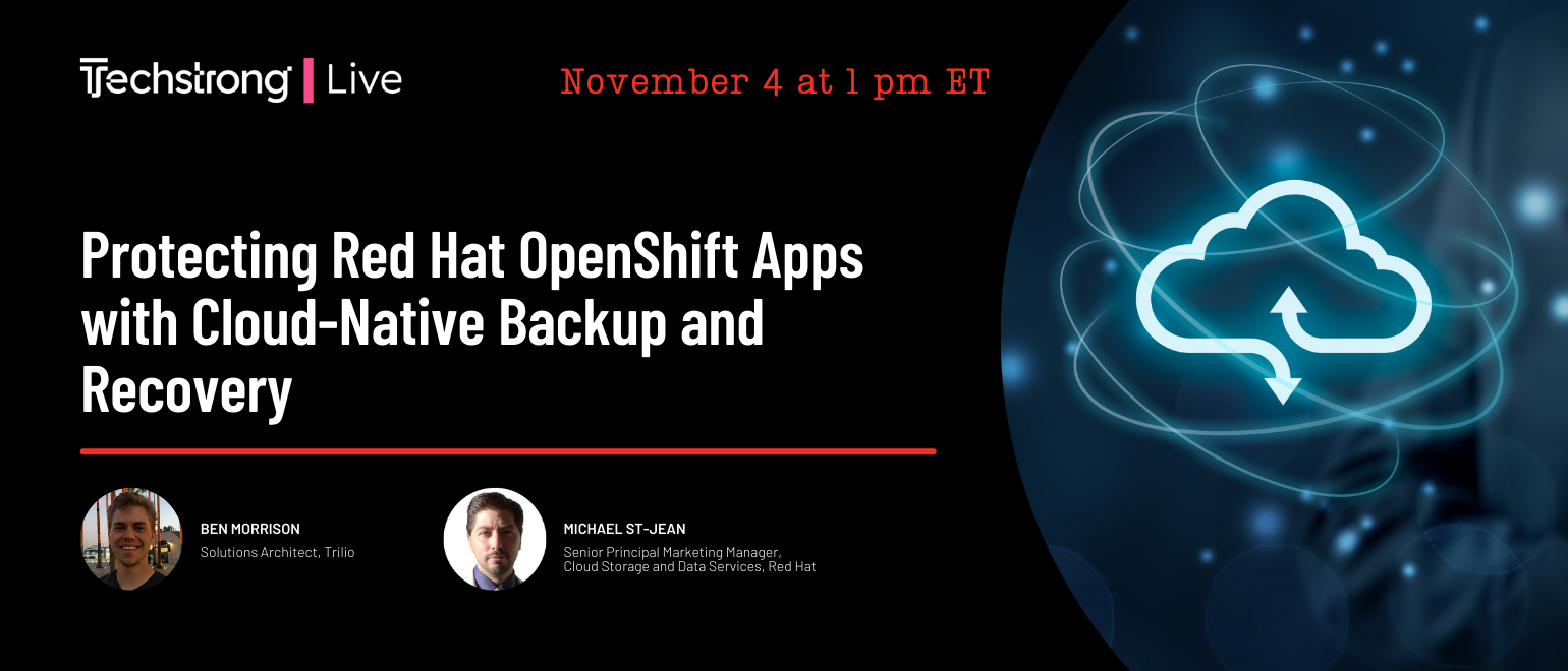 Protecting Red Hat OpenShift Apps with Cloud-Native Backup and Recovery